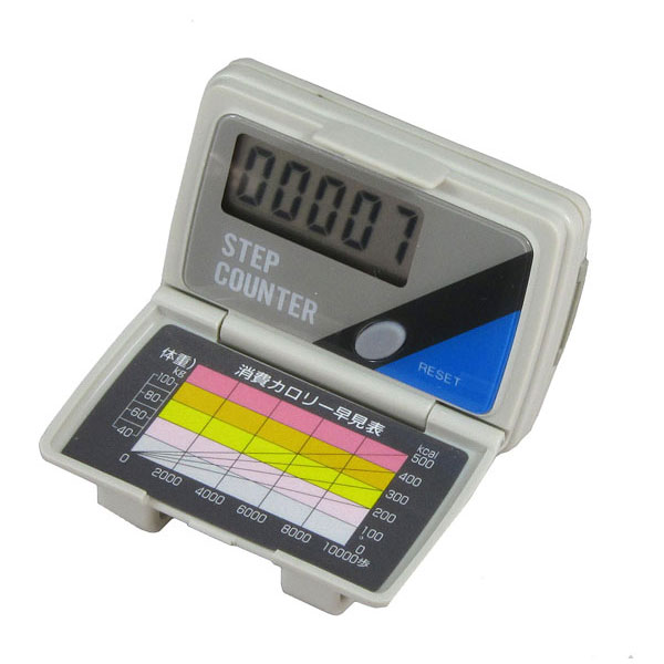 【MIZAR-TEC】ミザールテック デジタル歩数計 カロリー早見表付 ブラック NO3050 /40点入り(代引き不可)【S1】:VANCL