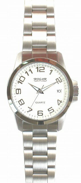 【ROGAR】ローガル メンズ腕時計 RO-059M-WS 10気圧防水(日本製) /10点入り(代引き不可)【S1】:VANCL