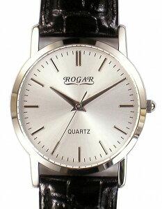 【ROGAR】ローガルメンズ腕時計RO-060MB-B1日常生活用防水(日本製)/10点入り(き)