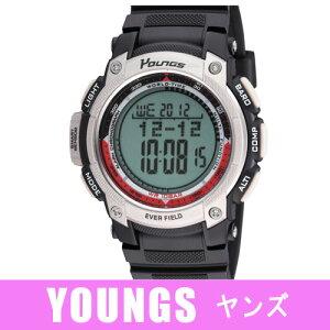【YOUNGS】ヤンズメンズ腕時計YP-10515-04デジタル多機能付5気圧防水/5点入り(き)