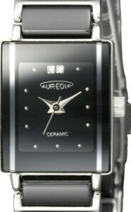 【AUREOLE】オレオールレディース腕時計SW-495L-6アナログ表示天然ダイヤ2Pセラミック日常生活用防水/10点入り(き)