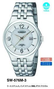 【AUREOLE】オレオールメンズ腕時計SW576M-3アナログ表示ソーラー10気圧防水/5点入り(き)
