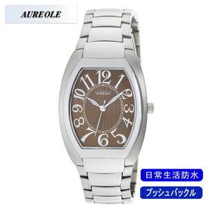 【AUREOLE】オレオールメンズ腕時計SW-488M-6アナログ表示日常生活用防水/5点入り(き)