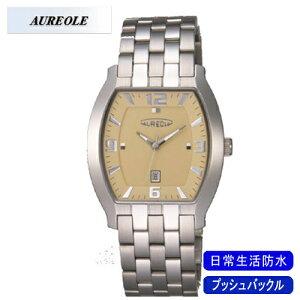【AUREOLE】オレオールメンズ腕時計SW-465M-2アナログ表示日常生活用防水/10点入り(き)