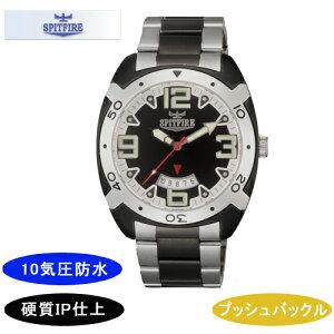 【SPITFIRE】スピットファイアメンズ腕時計SF-911M-1アナログ表示10気圧防水/5点入り(き)