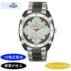 【SPITFIRE】スピットファイアメンズ腕時計SF-911M-3アナログ表示10気圧防水/10点入り(き)