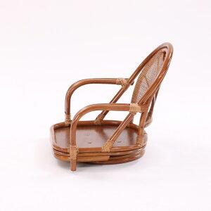 ラタンワイド回転座椅子ロータイプ籐チェアワイドロータイプブラウン選べるクッションリビング和室縁側アジアン和風()【送料無料】【smtb-f】