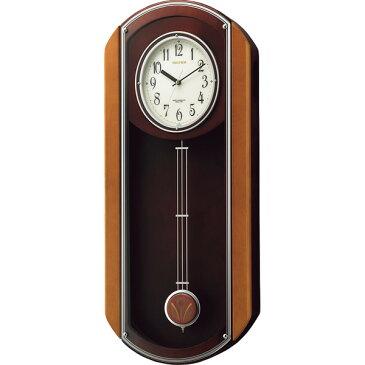 リズム 振子付電波掛時計 室内装飾品 掛け時計 からくり時計 4MN408HG06(代引不可)【送料無料】
