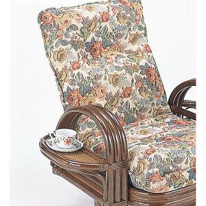 籐リクライニング回転座椅子H28S697()【送料無料】【smtb-f】