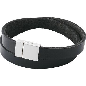 メンズレザーブレスレット ブラック 装身具 アクセサリー ブレスレット BFBR-2782(BK)(代引不可)