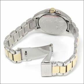 コーチダイヤルにはシェルの輝きとラインストーン☆ラグジュアリーなレディス腕時計14501659