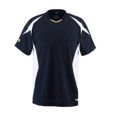 デサント(DESCENTE) ベースボールシャツ DB116 カラー Sネイビー×Sホワイト×Sゴールド サイズ M