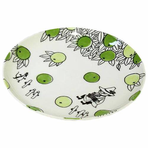 ムーミン 磁器21.5プレート シトラスドット シリーズ スナフキン 食器 MOOMIN citrus dots画像