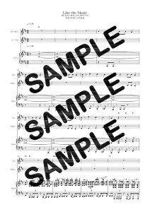 【ダウンロード楽譜】 Like the Music/THE ORAL CIGARETTES(ピアノ弾き語り譜 初級1)
