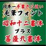 【Win版/Mac版毛筆フォント】「昭和12書体セット」+「菩薩9書体セット」 /株式会社昭和書体