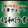 【Win版/Mac版フォントパック】昭和書体「昭和行書」 / 株式会社昭和書体