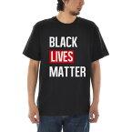 メッセージ Tシャツ BLACK LIVES MATTER ブラック ライヴズ マター スローガン メンズ レディース キッズ 大きいサイズ 小さいサイズ ティーシャツ TEE 黒人差別反対運動 デモ 120 130 140 150 160 S M L XL XXL XXXL 4L 黒 ブラック ジャスト JUST