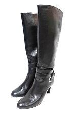 【中古】SalvatoreFerragamoサルヴァトーレフェラガモ靴ロングブーツ22センチブラックレザーヒール約7cm送料無料本革