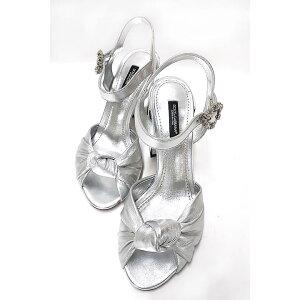 [二手] DOLCE&GABBANA Dolce&Gabbana鞋子女士凉鞋Moldre Nappa皮革镜面尺寸37银