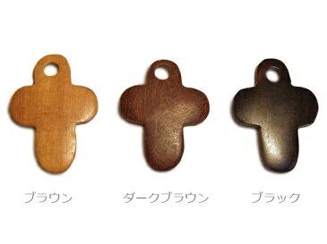 ウッドペンダントトップ/ストラップ〔WTPクロス丸ミニ〕木製/メンズ・レディースアクセサリー