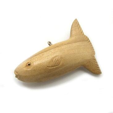 ウッドペンダントトップ【マンボウ】アクセサリーパーツ/ペンダント/ネックレス/ヘッド/木製/大きい/ナチュラル/ハワイアン/翻車魚