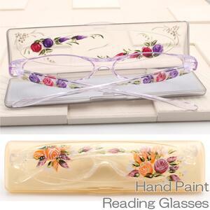 手描き老眼鏡 1枚1枚日本の職人が絵を描いた老眼鏡 コンパクトで持ち運びに便利 おしゃれ 女性…