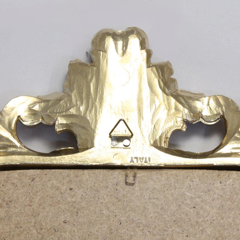 イタリア製 アンティークゴールドウォールミラー 壁掛け鏡REG1-C443G/84461