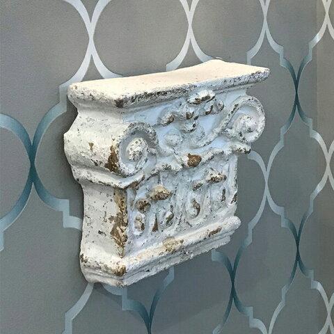 アンティーク調 ウォールシェルフフレンチ シャビー シャビーシック アンティーク コンソール ショップ インテリア ディスプレイ ホワイト おしゃれ かわいい 壁掛け 飾り 壁 白 北欧 輸入雑貨 送料無料REAN-77181