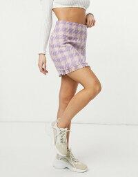 ストラディバリウス レディース スカート ボトムス Stradivarius tweed mini skirt in pink check Pink check