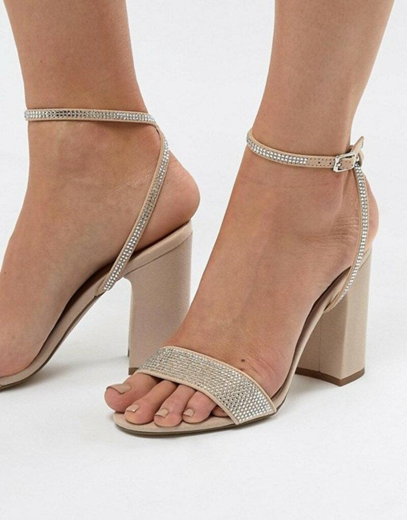 ニュールック レディース サンダル シューズ New Look Bling Block Heel Sandal Oatmeal
