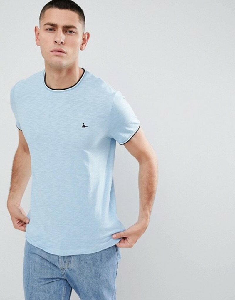 ウィルス Jack Wills Tシャツ ジャック トップス メンズ Grey 【Baildon ringer t-shirt in grey】