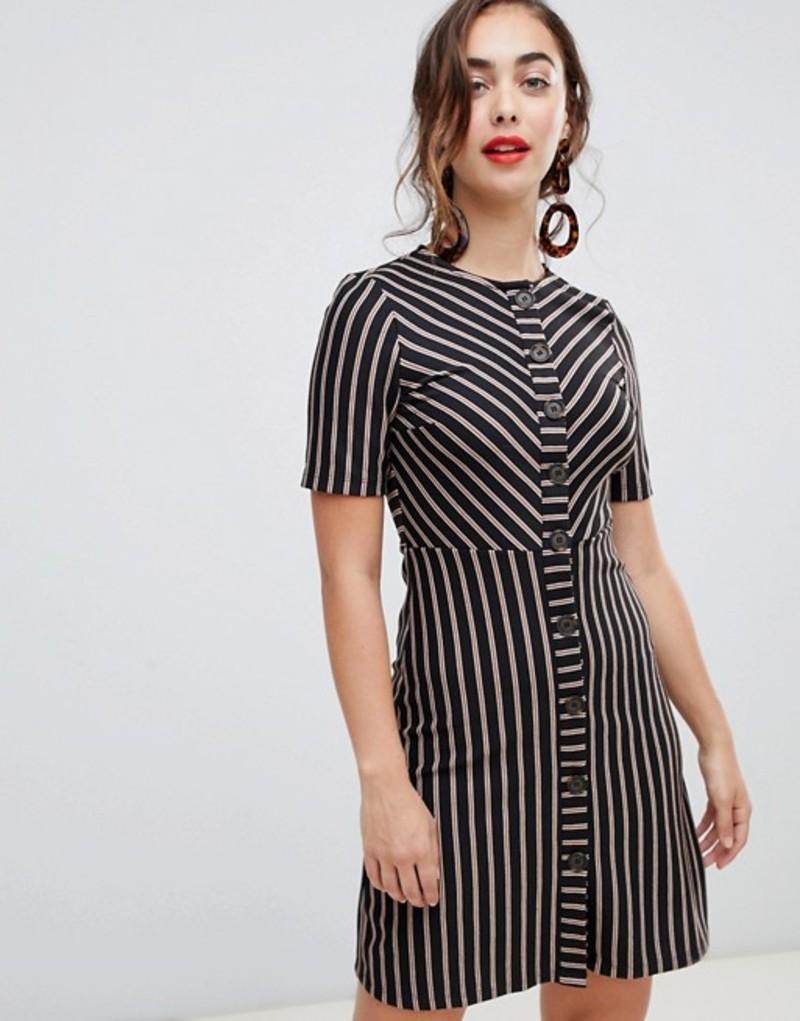 レディースファッション, ワンピース  Warehouse button down dress in stripe Multi