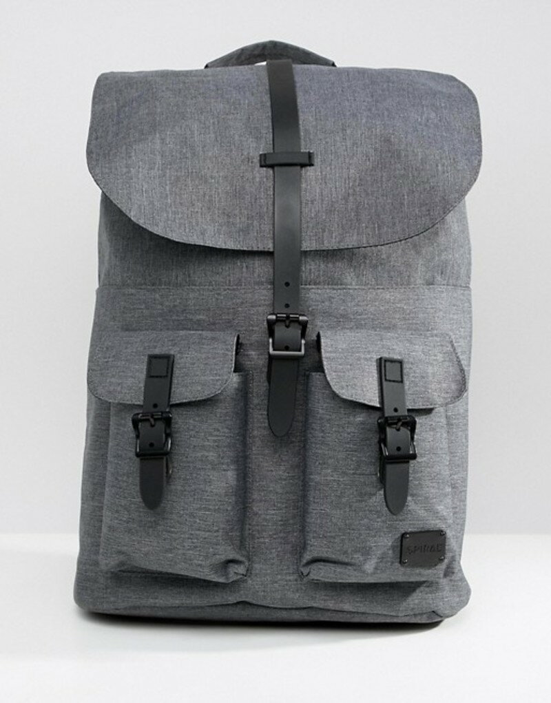 b0ca2f1efb0e スパイラル メンズ バックパック·リュックサック バッグ Spiral backpack in charcoal crosshatch  Charcoal 送料無料 サイズ交換無料 スパイラル メンズ バッグ バック ...