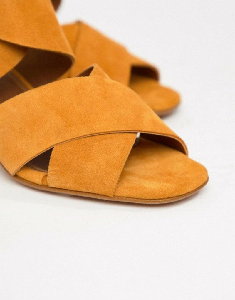 エイソス レディース サンダル シューズ ASOS DESIGN Tosh suede crossover sandals Marigold suede