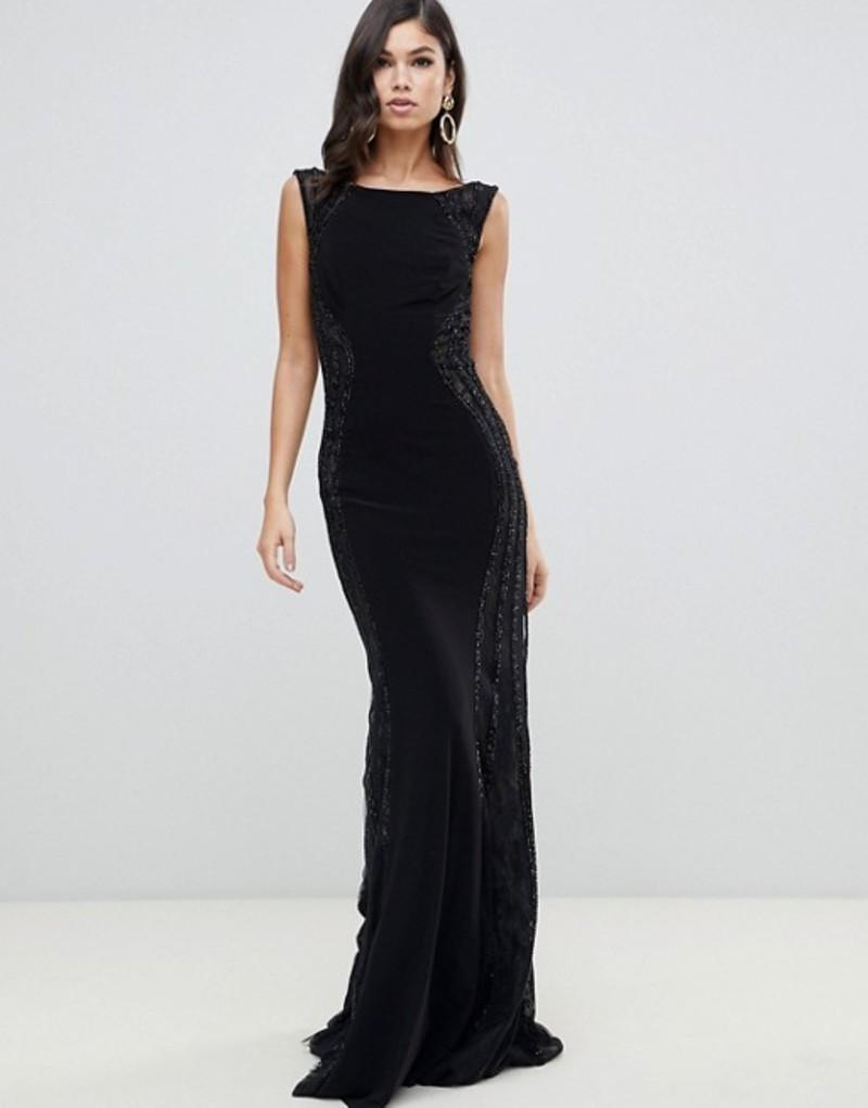 フォーエバーユニーク レディース ワンピース トップス Forever Unique cowl neck maxi dress Black