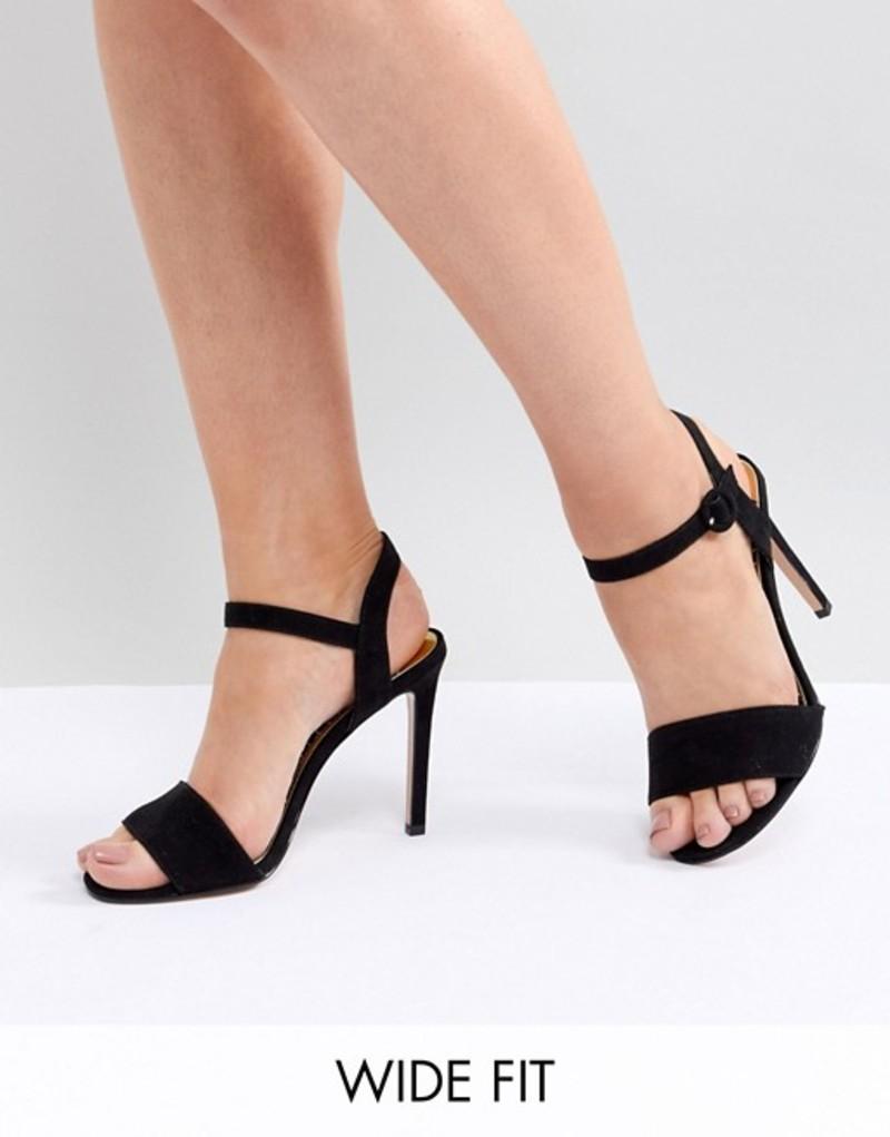 リバーアイランド レディース サンダル シューズ River Island wide fit heeled sandal Black