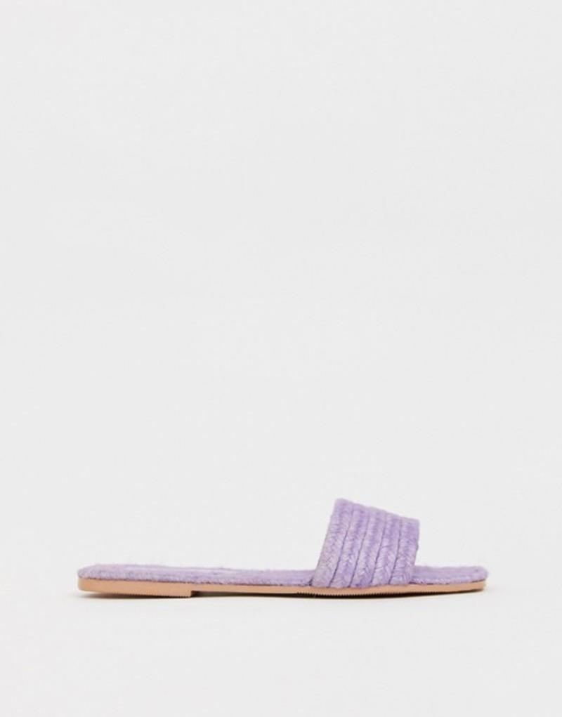 エイソス レディース サンダル シューズ ASOS DESIGN Jayme espadrille sandals Lilac