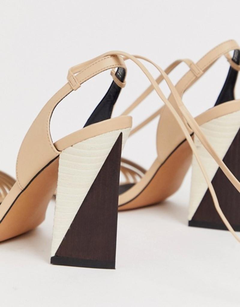 エイソス レディース サンダル シューズ ASOS DESIGN Hummer strappy block heeled sandals Pale beige