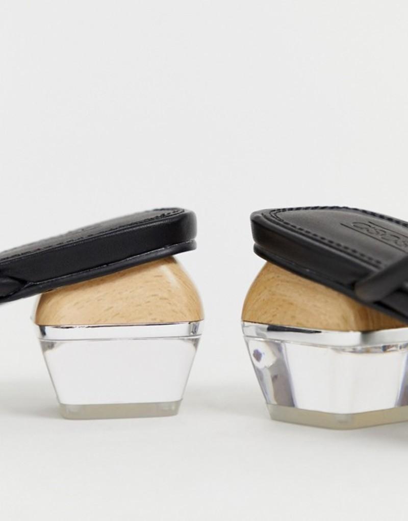 エイソス レディース サンダル シューズ ASOS DESIGN Hawaii strappy block heeled sandals Black