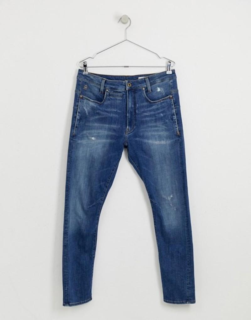 ジースター メンズ デニムパンツ ボトムス G-Star D-staq 3d zip slim fit mid wash jeans Blue