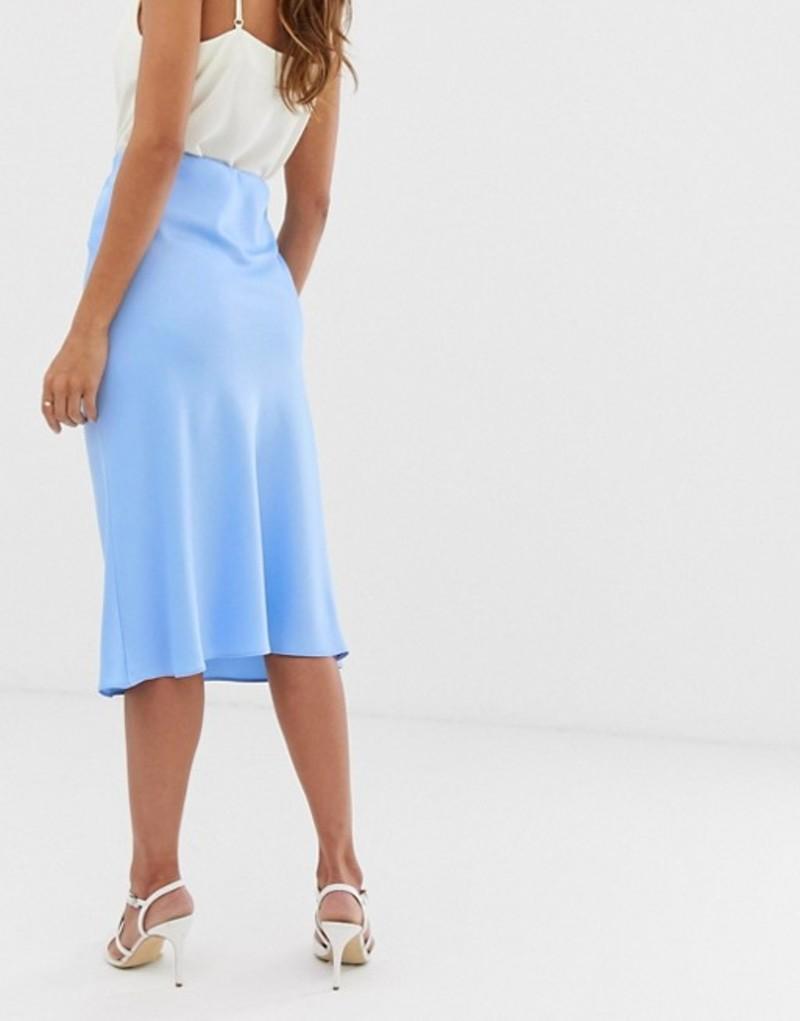 リバーアイランド レディース スカート ボトムス River Island bias cut midi skirt in blue Light blue