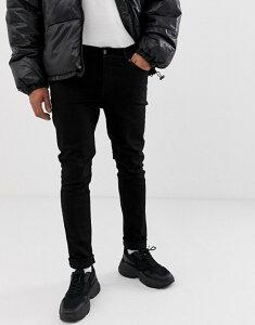 チープマンデー メンズ デニムパンツ ボトムス Cheap Monday tight skinny jeans in new black Black