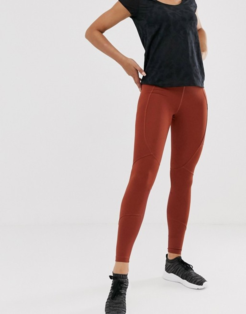 靴下・レッグウェア, スパッツ・レギンス  ASOS 4505 icon legging with bum sculpt seam detail Conker