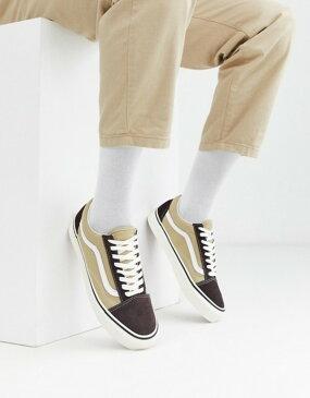 バンズ メンズ スニーカー シューズ Vans UA Old Skool 36 DX sneakers in brown (anaheim factory) og