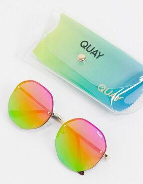 クアイオーストラリア レディース サングラス・アイウェア アクセサリー Quay Australia Atomic hexagonal sunglasses with rainbow lens Multi