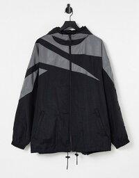 リーボック メンズ ジャケット・ブルゾン アウター Reebok misbhv windbreaker jacket in black Black