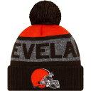 ニューエラ メンズ 帽子 アクセサリー New Era Men's Cleveland Browns Pom Knit