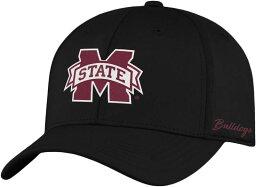 トップオブザワールド メンズ 帽子 アクセサリー Top of the World Men's Mississippi State Bulldogs Phenom 1Fit Flex Black Hat