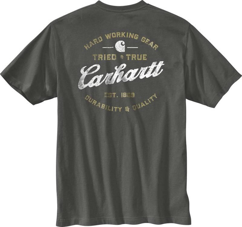 トップス, カジュアルシャツ  Carhartt Mens Relaxed Fit Heavyweight Short Sleeve Pocket Tried and True Graphic T-Shirt Peat