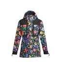 エアブラスター レディース ジャケット・ブルゾン アウター Airblaster Women's Lady Storm Cloak Jacket Flowers Black